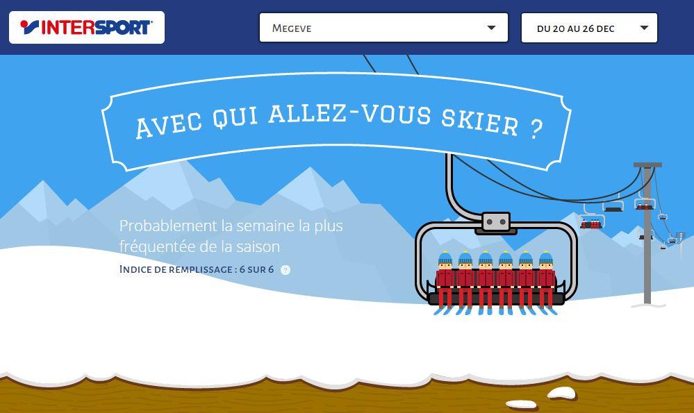 Si vous allez à Megève entre le 20 et le 26 décembre, il y aura embouteillage sur les pistes de ski!