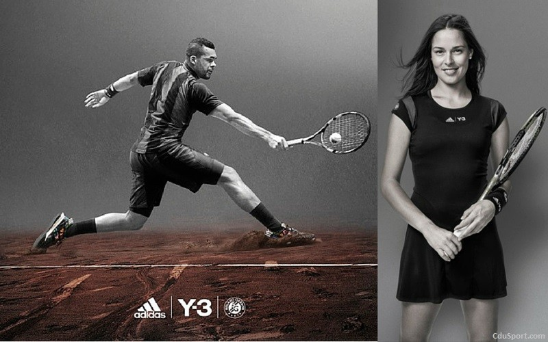 roland garros 2015 les tenues adidas y 3 de tsonga et d 39 ivanovic. Black Bedroom Furniture Sets. Home Design Ideas