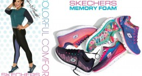 Skechers-baskets-mémoire-forme-Demi-Lovato