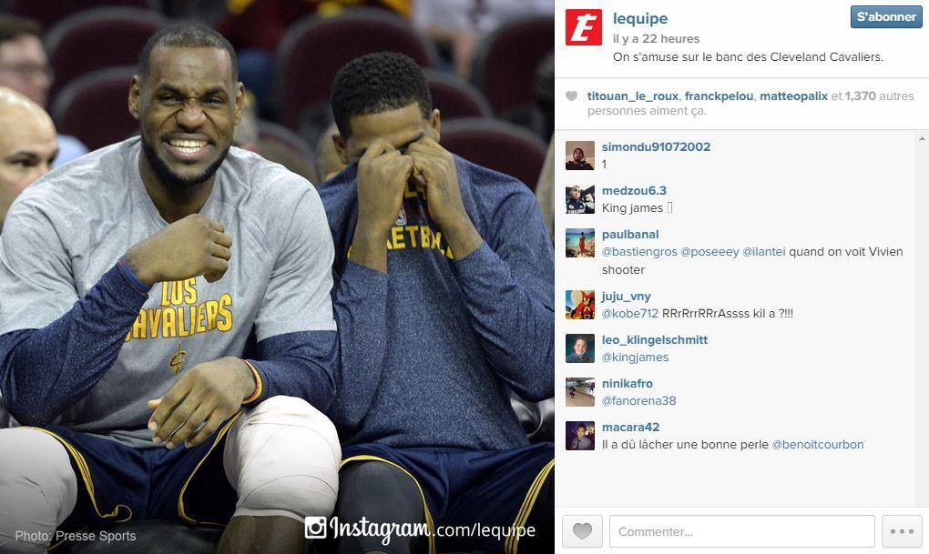 Sur le compte Instagram de l'Equipe, on retrouve des magnifiques clichés sportifs
