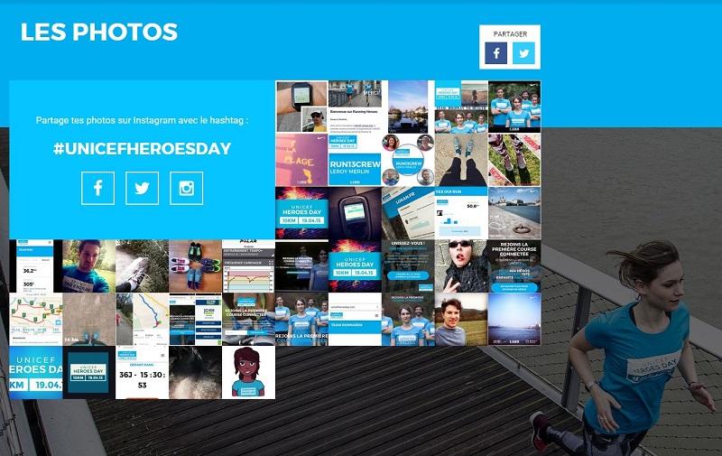 unicef heroes day photowall