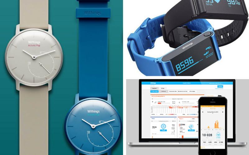 La montre d'activité Pop, le bracelet Pulse ou l'application gratuite Withings Health Mate, les 3 moyens proposés par Withings pour participer à la Parisienne Connectée
