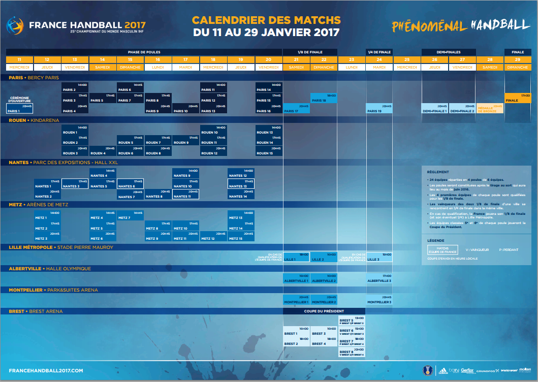 Top d part pour la billetterie du mondial de handball 2017 - Calendrier coupe du monde 2015 ...