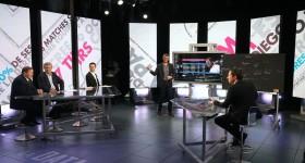plateau de Data Room, emission sur Canal+