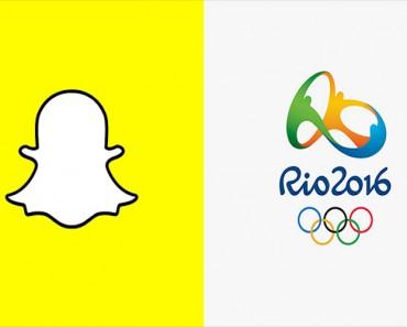 jeux olympiques de rio sur snapchat