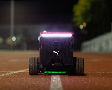 photo puma beatbot robot running connecté