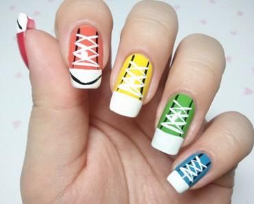 sneakers art nail