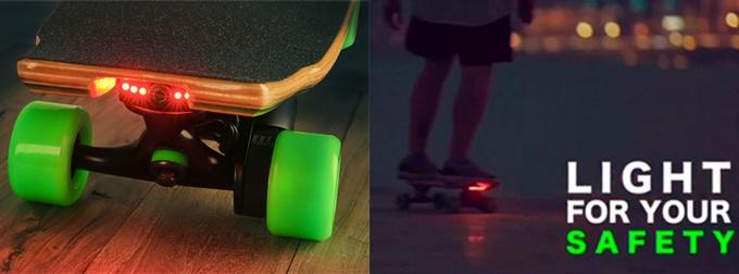Des LED intégrées un skateboard électrique, il fallait y penser !