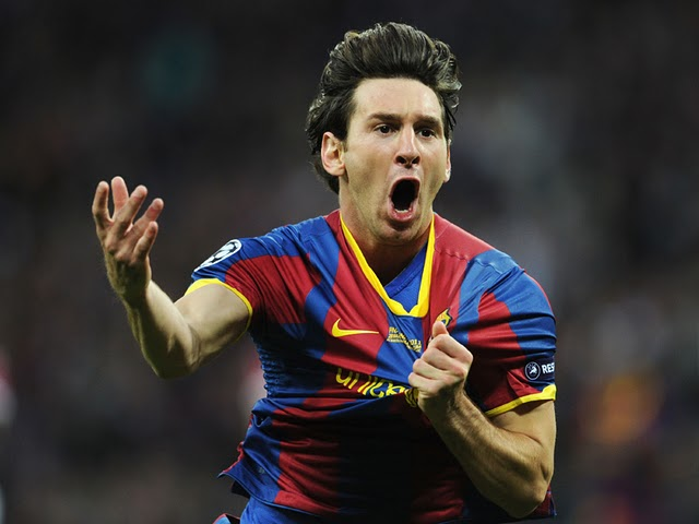 Lionel Messi porte le maillot du FC Barcelone