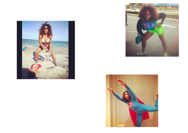 Serena Williams, sportive présente sur Instagram