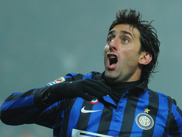 Diego Milito porte le maillot de l'Inter Milan