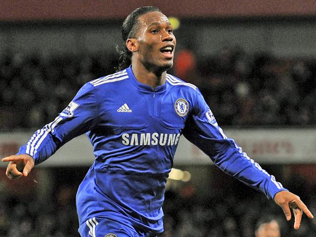 Didier Drogba porte le maillot de Chelsea