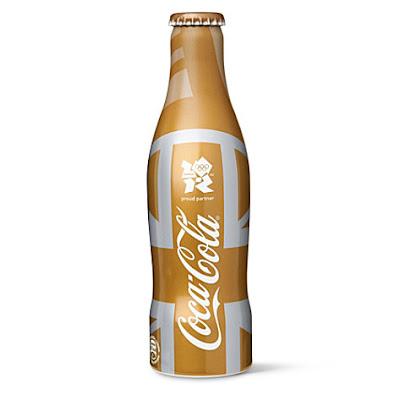 Bouteille Coca-Cola Collector dorée Jeux Olympiques 2012