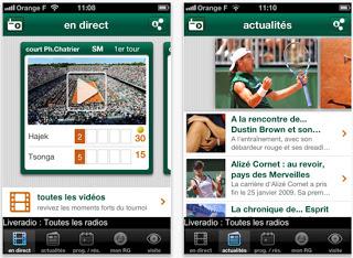 Application smartphone Roland-Garros