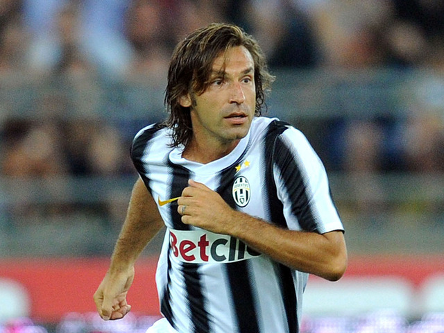 Pirlo porte le maillot de la Juventus