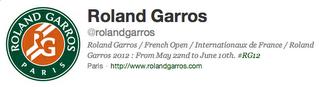 Compte Twitter de Roland-Garros