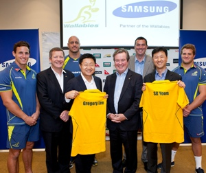 Samsung partenaire du rugby australien