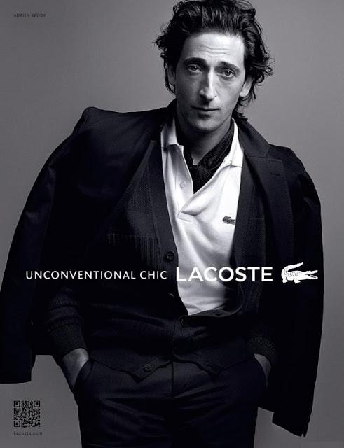 Adrien Brody, Unconventional Chic pour Lacoste