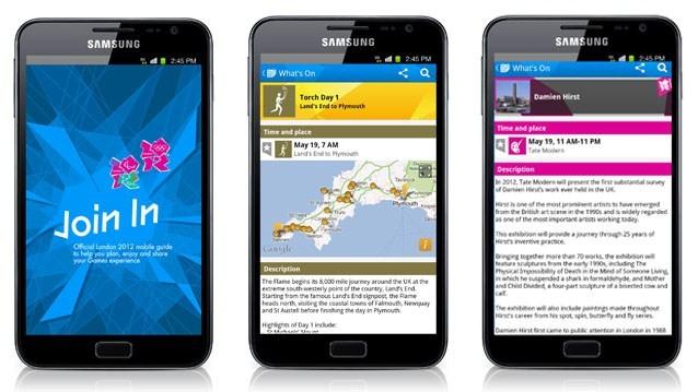 Londres 2012 lance son application mobile
